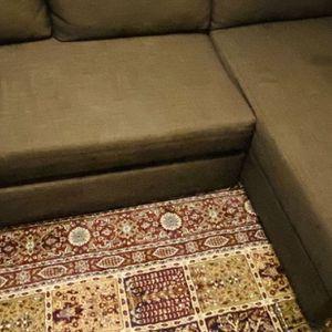 Sleeper sectional,3 seat w/storage / Brown for Sale in Edmonds, WA