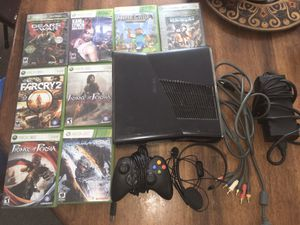 Xbox 360 with games and controller for Sale in Watertown, CT
