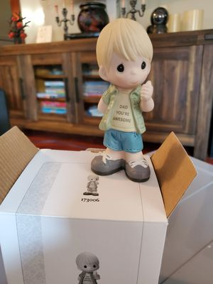 New precious moments: Dad you're awesome boy figurine, porcelain for Sale in San Dimas, CA
