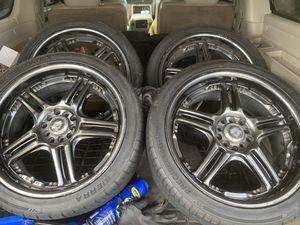 "18"" 5 lug universal Racing rims for Sale in Killeen, TX"