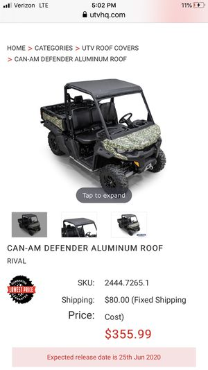 Can am defender aluminum roof for Sale in Boynton Beach, FL