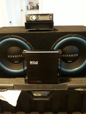 "2 12""HI FONICS BRAND NEW 1500WATT AMP PLUS RADIO for Sale in Los Angeles, CA"