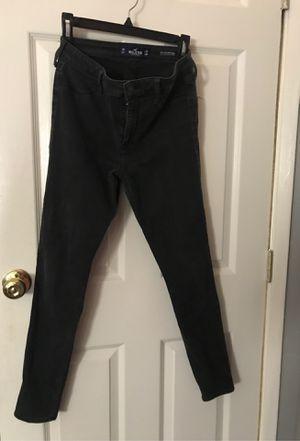 black high rise hollister jeans for Sale in Hemet, CA