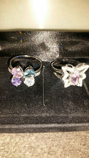 Butterfly or flower ring sterling silver size 8 $20 each for Sale in Anaheim, CA