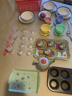 Kids play dishes and cups for Sale in Phoenix, AZ