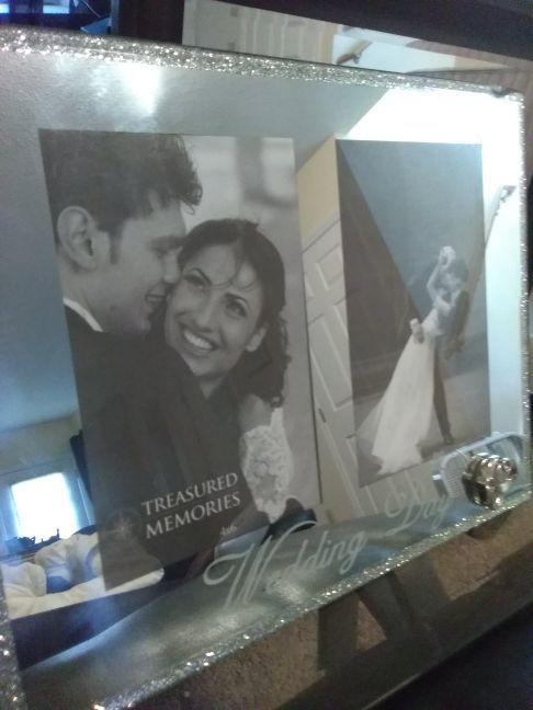 Beautiful mirror wedding day frame