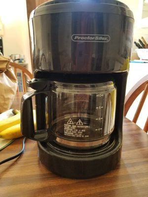 Proctor Silex 10 cup coffee maker for Sale in Cleveland, OH