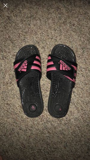 Adidas slip on sandals for Sale in Marengo, OH