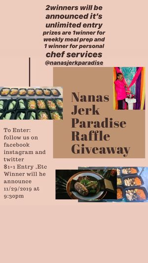 Nana's Jerk Paradise $1 Raffle Give away for Sale in Lockport, IL