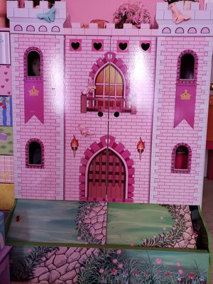 Beautiful, colorful, castle doll house storage for Sale in Alexandria, VA