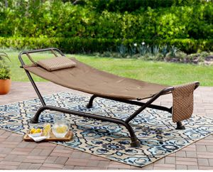 Hammock With Stand Deluxe Outdoor Patio Furniture Garden Lounge Relaxation for Sale in Henderson, NV