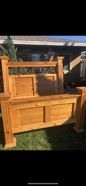 Full Size wooden bed frame for Sale in Oxnard, CA