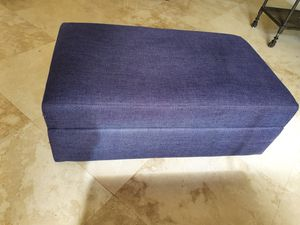 Navy blue Crate and Barrel ottoman with the storage for Sale in North Miami Beach, FL