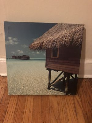 RELAXING BEACH PHOTOGRAPH ON CANVAS FROM MALDIVES for Sale in Philadelphia, PA