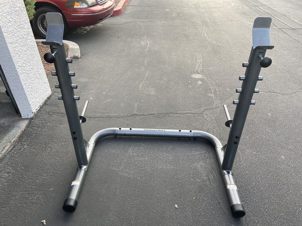 Brand New SQUAT RACK + Bench Press - Adjustable - Steel 600lbs EZ Storage