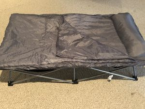 Folding cot and sleeping bag for Sale in Oakton, VA