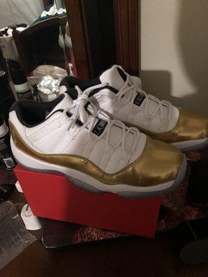 6.5 JORDAN GOLD/WHITE RETRO 11 LOW CLOSING CEREMONY for Sale in Lakeland, FL