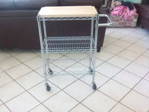 Baker / wine rack with cutting board on wheels!! Nice for Sale in Stockton, CA