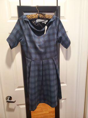 Ladies Siz 12 Plaid Navy Dress for Sale in Alexandria, VA
