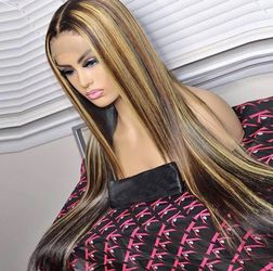 Closure With High Lights Human Hair Wig for Sale in Eastpointe,  MI