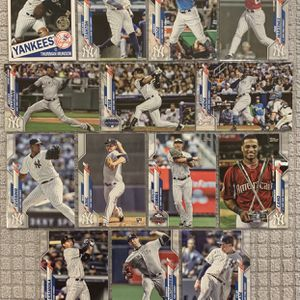 New York Yankees 20 Card Monster Team Lot - Topps 2020 + Bonus Vintage Throwback Cards for Sale in Federal Way, WA