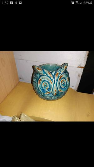 Ceramic owl candle holder for Sale in Motley, MN