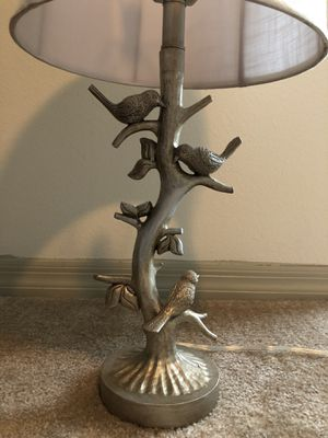 Lamp with birds on the base for Sale in Tampa, FL