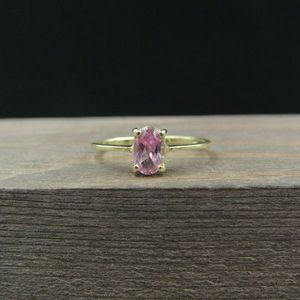 Size 5 10K Gold Pink Purple Sapphire Petite Band Ring Vintage Estate Wedding Engagement Anniversary Gift Idea Beautiful Elegant Unique for Sale in Everett, WA