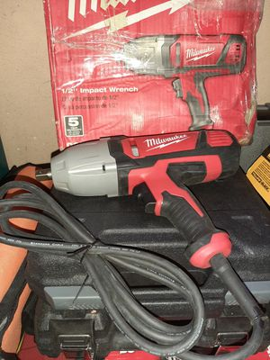 Milwaukee electric impact wrench price is firm no lowballers for Sale in Fontana, CA