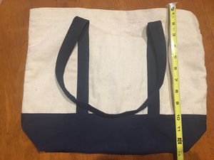 Heavy Canvas tote bag with blue color block and straps for Sale in Upland, CA