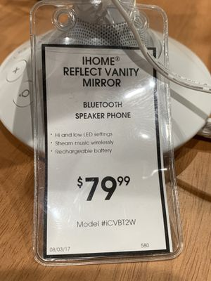 Ihome Reflect Vanity Mirror Bluetooth Speaker Phone for Sale in Dallas, TX