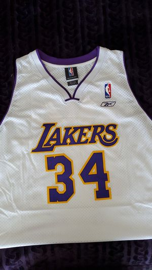 SHAQUILLE O'NEAL Los Angeles Lakers #34 REEBOK Stitched White NBA Jersey Size Adult 2XL New!] for Sale in Chula Vista, CA
