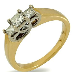 U7001 LADIES DIAMOND ENGAGEMENT RING 0.42CT WEDDING BAND 14k GOLD for Sale in Beverly Hills, CA