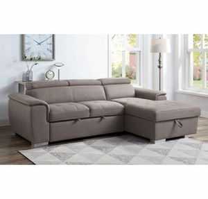 Brown convertible pullout sofa bed couch sectional for Sale in Downey, CA