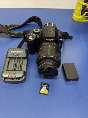 Nikon D60 W/Nikon DX 18-55mm Lens DSLR Digital for Sale in DeBary, FL