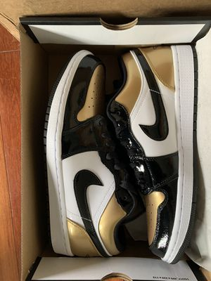 New Air Jordan 1 low Gold Toes $200 OBO for Sale in Tacoma, WA