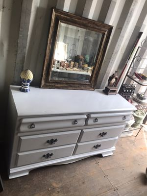 Beautiful White & Gray Dresser Approx 60in for Sale in Fairburn, GA
