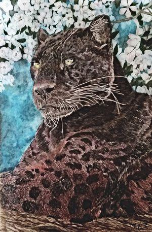 Black Leopard Original Drawing for Sale in Wetumpka, AL