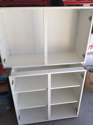 Kitchen cabinets base and upper, no doors for Sale in Fort Lauderdale, FL