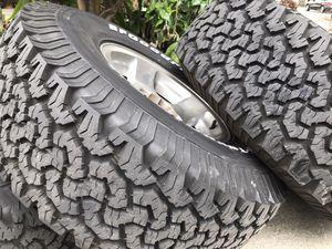 5 bfgoodrich all terrain 285/75/16 rims and tire. Fzj80 Toyota Land Cruiser for Sale in Long Beach, CA
