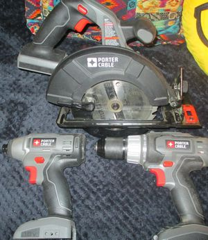 Porter Cable 18v Tools Tool Bag Tool set Saw Drill Drill No Batteries for Sale in Riverside, CA