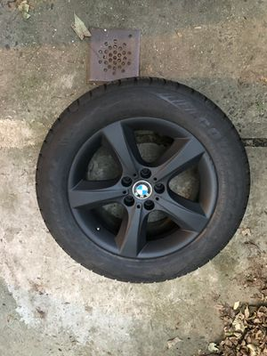 BMW X5 oem rims, set of 4 , new tires for Sale in Port Washington, NY