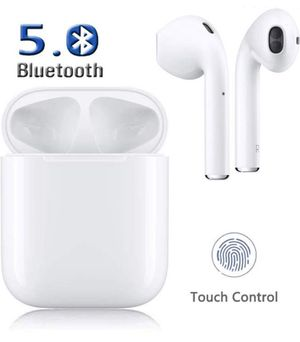 Wireless Headphones Bluetooth 5.0 Charging case included for IPhone and Samsung for Sale in Sanford, NC