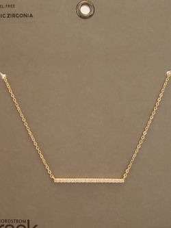 Gold CZ bar necklace for Sale in Rockville,  MD