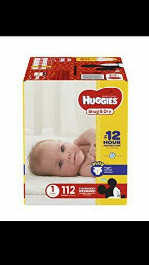 Huggies diapers size 1 112ct for Sale in Lakeland, FL