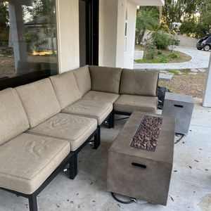 Patio Furniture + Gas Fireplace for Sale in Riverside, CA