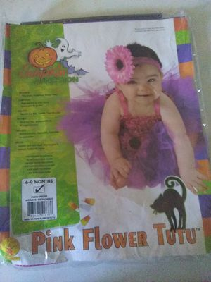 New pink flower infant tutu costume for Sale in Tampa, FL