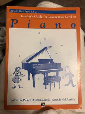 Alfreds teacher piano book level 1a for Sale in Lexington, KY