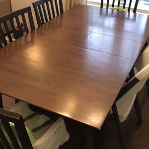 Wood Table And Four Chairs for Sale in Youngsville, NC