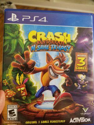 Crash Bandicoot Trilogy ps4 for Sale in Santa Monica, CA